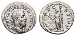 Ancient Coins - PUPIENUS AR Denarius. EF+/EF. Felicitas - P M TR P COS II P P. Quality!