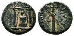 Ancient Coins - PERGE (Pamphylia) AE15. EF-. Artemis Pergaia within temple.