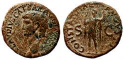 Ancient Coins - CLAUDIUS AE As. VF+/VF. CONSTANTIAE AVGVSTI.