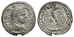Ancient Coins - CARACALLA AR Tetradrachm. EF-. Seleucia Pieria mint. Thunderbolt - Eagle. SCARCE and EXCELLENT!