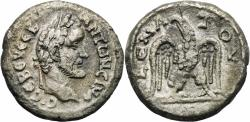 Ancient Coins - ANTONINUS PIUS AR (low grade) Tetradrachm. VF+. Eagle - Year 9.