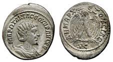 Ancient Coins - OTACILIA SEVERA AR Tetradrachm. EF-. Early type (A.D. 244). SCARCE