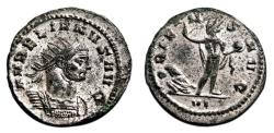 Ancient Coins - AURELIAN Bi Antoninianus. EF. SILVERED. Siscia mint. ORIENS AVG.