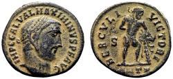 Ancient Coins - MAXIMINUS II DAIA AE Follis. EF-/EF. Antioch mint. HERCVLI VICTORI. Scarce!
