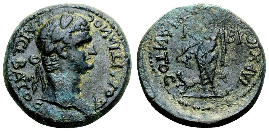 Ancient Coins - KIBYRA (Phrygia) AE22. Domitian. EF-/VF+. Magistrate Claudius Bias.