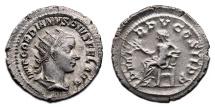 Ancient Coins - GORDIAN III AR Antoninianus. EF/VF+. Apollo on lyre - P M TR P V COS II P P.