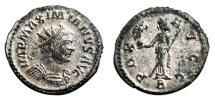 Ancient Coins - MAXIMIANUS HERCULIUS Bi Antoninianus. EF/EF-. FULLY SILVERED. Lugdunum mint. PAX AVGG.