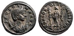 Ancient Coins - SEVERINA Bi Antoninianus. EF/EF-. Ticinum mint. CONCORDIAE MILITVM