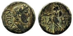 Ancient Coins - SIDE (Pamphylia) AE17. Nero. VF+/EF-. Athena.