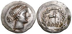 Ancient Coins - KYME (Aeolis) AR Tetradrachm. EF/EF+. Magistrate Kallias. Amazon Kyme - Horse.
