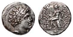 Ancient Coins - ALEXANDER I BALAS AR Drachm. EF-/VF+. Apollo Delphios.