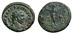 Ancient Coins - CARAUSIUS AE Antoninianus. VF+/VF. PAX AVGGG (Struck in the name of the three emperors). RARE!