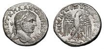 Ancient Coins - CARACALLA AR Tetradrachm. EF-. Antioch mint. Eagle over large Club. QUALITY!
