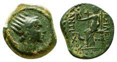 Ancient Coins - ANTIOCHOS IV Epiphanes AE15. VF+/EF-. Seleucia on the Tigris mint.