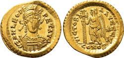 Ancient Coins - LEO AU Solidus. EF+/EF. VICTORIA AVGGG Z / CONOB.