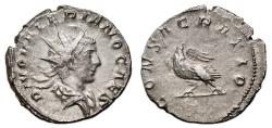 Ancient Coins - VALERIAN II AR Antoninianus. VF+/EF-. Eagle - CONSACRATIO. Very nice!