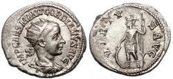 Ancient Coins - GORDIAN III AR Antoninianus. EF. Antioch mint. VIRTVS AVG. Scarce type.