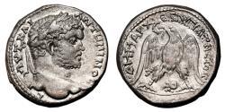 Ancient Coins - CARACALLA AR Tetradrachm. EF-. Damascus mint. Ram´s head. SCARCE and PRECIOUS!