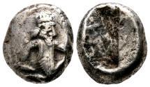 Ancient Coins - ACHAEMENID Kingdom AR Siglos. Darios I to Xerxes II. Ca. 485-420 BC. Persian king.