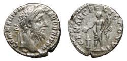 Ancient Coins - COMMODUS AR Denarius. VF/VF+. GEN AVG FELIC COS VI. Scarce Reverse.