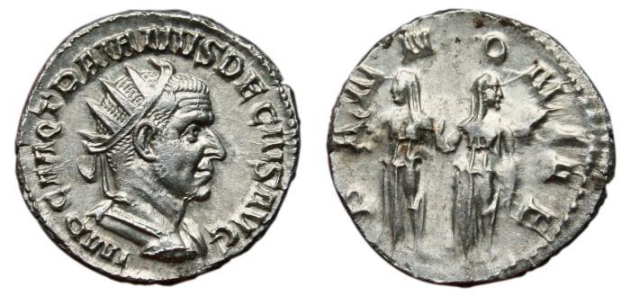 Ancient Coins - TRAJAN DECIUS AR Antoninianus. EF+/EF. PANNONIAE. Superb coin!!!