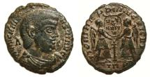 Ancient Coins - MAGNENTIUS Æ Maiorina. BARBARIAN IMITATION. VF+. Victories in reverse. VERY INTERESTING!!!