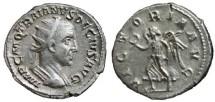 Ancient Coins - TRAJAN DECIUS AR Antoninianus. EF. VICTORIA AVG. Scarce reverse.
