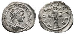 Ancient Coins - ELAGABALUS AR Antoninianus. EF-/VF+. MARS VICTOR
