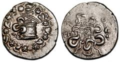 Ancient Coins - TRALLEIS (Lydia) AR Cistophoric Tetradrachm. EF-. TRAL - hand and kerykeion.