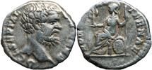 Ancient Coins - CLODIUS ALBINUS AR Denarius. VF. ROMAE AETERNAE. Scarce emperor.