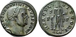 Ancient Coins - MAXIMIANUS HERCULIUS AE Follis. EF. Alexandria mint. HERCVLI VICTORI.