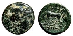 Ancient Coins - ALEXANDRIA TROAS AE18. VF/VF+. 261-227 BC. Apollo - Horse.