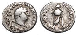 Ancient Coins - VITELLIUS AR Denarius. VF. XV VIR SACR FAC.