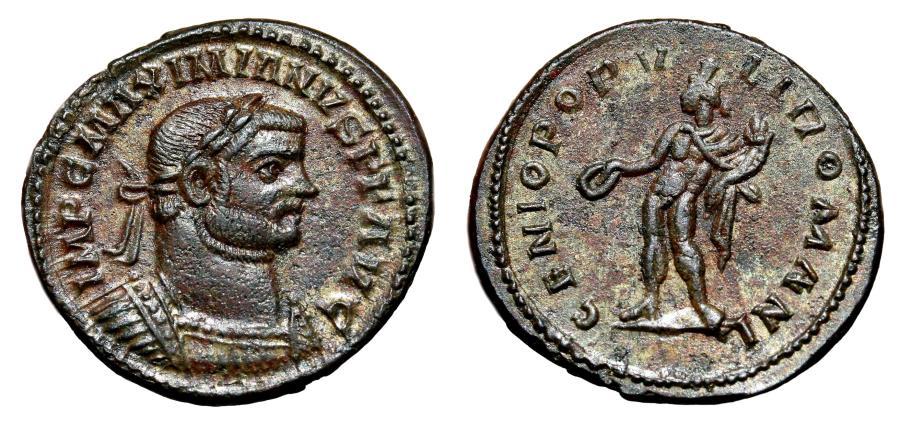 Maximianus Follis - GENIO POPVLI ROMANI - Cyzicus Mint