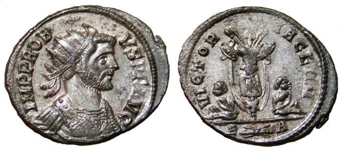 Ancient Coins - PROBUS Bi Antoninianus. EF/EF-. Rome mint. FULLY SILVERED. VICTORIA GERM