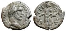 Ancient Coins - ANTONINUS PIUS AR Tetradrachm. EF. Alexandria mint. EIRENE (Year 3)