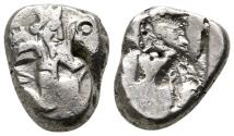 Ancient Coins - ACHAEMENID Kingdom AR Siglos. Darios I to Xerxes II. Ca. 485-420 BC. Persian king.