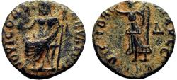 Ancient Coins - Time of Maximinus II Æ13. 'Persecution Issue'. EF-. Antioch. IOVI CONSERVATORI.
