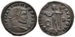 Ancient Coins - MAXIMINUS II DAIA AE Follis. EF/EF-. Siscia mint. IOVI CONSERVATORI.