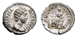 Ancient Coins - JULIA MAMAEA AR Denarius. EF+. FECVND AVGVSTAE. High Quality!