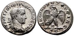 Ancient Coins - TREBONIANUS GALLUS AR Tetradrachm. EF+. ORIGINAL LUSTER. Antioch mint.