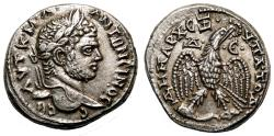 Ancient Coins - CARACALLA AR Tetradrachm. EF+. Antioch mint. Eagle over Leg and Thigh.