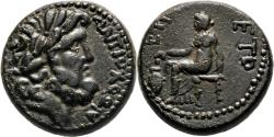 Ancient Coins - ANTIOCH (Seleucia Pieria) AE19. EF+/EF. Zeus - Boule. AD 66/67.