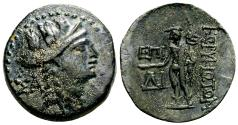 Ancient Coins - KORYKOS (Cilicia) AE23. VF+/EF. 1st Century BC. Hermes.