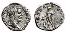 Ancient Coins - SEPTIMIUS SEVERUS AR Denarius. VF+. IMP III LIBERO PATRI. Scarce.