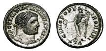 Ancient Coins - DIOCLETIAN Bi Follis. EF+/EF. FULLY SILVERED. Heraclea mint. GENIO POPVLI ROMANI.