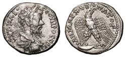 Ancient Coins - SEPTIMIUS SEVERUS AR Tetradrachm. EF. Antioch mint. Bust draped and cuirassed. VERY RARE AND SUPERB!