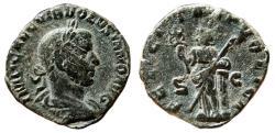 Ancient Coins - VOLUSIAN Æ Sestertius. Good VF. FELICITAS PVBLICA. Complete Details.