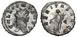 Ancient Coins - GALLIENUS Bi Antoninianus. VF+. VBERITAS AVG. Original SILVERING.
