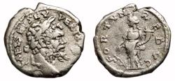 Ancient Coins - SEPTIMIUS SEVERUS AR Denarius. VF/VF+. Emesa mint. FORTVN REDVC. Early and scarce issue.
